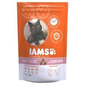 Iams Adult Dry Cat Food Salmon 800g