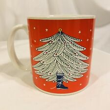 "vintage Taylor & Ng Coffee Cup Christmas Tree Boot Joyous Noel 3 3/4"" mug"