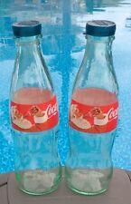 Santa Coca Cola SALT & PEPPER SHAKERS (1 pair of 8oz bottles and caps) LAST ONE