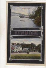 Steamer At Pier Kenmore Perthshire Scotland Vintage Postcard 637b