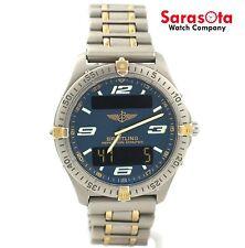 Breitling Aerospace F65362 Blue Dial Two Tone Ana/Digi Quartz Men's Watch