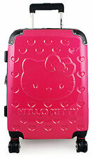 Hello Kitty Hardshell Rolling Luggage Case, 28 Inches - Embossed Pink