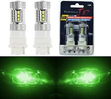 LED Light 80W 3156 Green Two Bulbs Front Turn Signal Replacement OE Upgrade Show