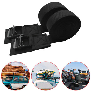 2x Car Roof Rack Luggage Kayak Surfboard Cam Buckle Lashing Tie Down Strap 9.8ft