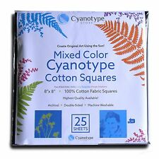 8x8 Cyanotype Cotton Squares (Mixed Color, 25 pack)