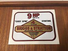 Briggs Stratton 9-hp decal set 1964-1977
