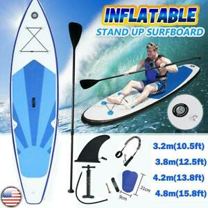 10-16ft Inflatable Super Stand Up Paddle Board Supboard w/ Complete Pump Kit US