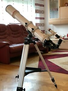 Teleskop Bresser AR102 102/1000, Omegon Zoomokular 7-21mm, Alu Stativ