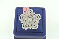 Cocktail Flower Design 18k White Gold 5.00 CT Diamond Ring, 14gm, Size 7