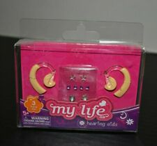 """My Life As Hearing Aids for 18"""" Dolls Left Right Ear Earring Sticker Sheet New"""