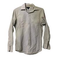 Banana Republic Mens M Striped White Long Sleeve Button Down Casual Dress Shirt