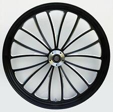"""""""Black Cut"""" Manhattan CNC 26"""" x 3.5"""" Front Dual Disc Wheel w/ ABS Spacer Kit"""