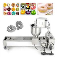 More details for automatic donut maker making machine wide oil tank 3 sets mold 220v commercial