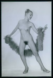 e16 Exertier nude woman stripper pinup cabaret dancer pin up original 1960 photo