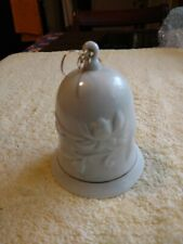Vintage White Bell 4 And 1/2 In Tall With Flowers Design