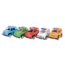 2x Plastic Pull Back Diecasts Toy Vehicles Cars Children Toys Gift Police Car Bh