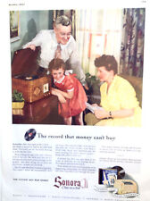 VINTAGE ORIGINAL 1943 SONORA RADIO - PHONOGRAPH ~ FULL PAGE COLOR PRINT AD