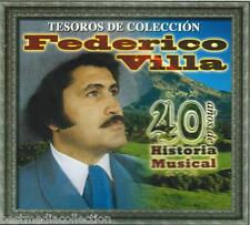 Federico Villa CD NEW Tesoros De Coleccion SET 3 CD's 40 Anos De Historia SEALED