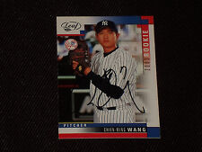 CHIEN-MING WANG 2003 LEAF ROOKIE SIGNED AUTOGRAPHED CARD #325 NEW YORK YANKEES