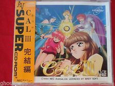 CAL III NEC PC ENGINE DUO TURBO DUO GT CAL 3 SUPER CD ROM 2