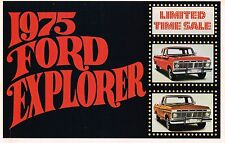 1975 Ford EXPLORER PICKUP Truck Mailer Brochure with Color Chart