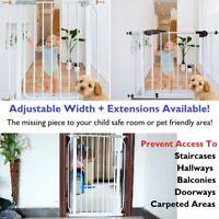DIY Multipurpose Baby Safety Gate Child Stairway Pet Doorway Barrier Many Sizes