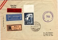 1947 Austria Cover Registered with 10 Shilling Stamp Airmail Censored