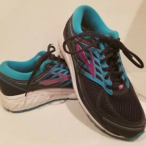 Brooks Addiction 13 Multi-Color Lace Up Athletic Running Shoes Women's 10 Narrow