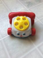 1996 Fisher Price McDonald's Happy Meal Toy Rotary Phone on Wheels