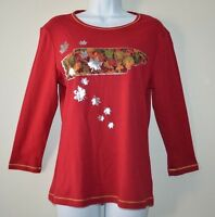 B.L.E.U Women's Top/Shirt/Blouse Cotton Size Large