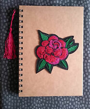 Funky Cute Rockabilly Retro ROSE Sequin A5 Notebook Notepad Fun Kitsch Gift