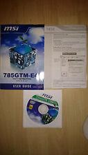 MSI 785GTM-E45 User Guide, MS-7549 Handbuch mit Treiber CD