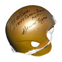 Y.A. Tittle Signed 1947 Cotton Bowl MVP Geaux Tigers Riddell Gold Mini Helmet (J