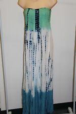 Raviya Strapless Tie Dye Sheer Printed Dress Swim Cover Up 72904 Large