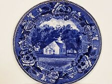 Vintage Wedgewood Blue Plate Old Third Haven Meeting House Easton Maryland