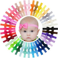 40pcs 2.75in Grosgrain Ribbon Hair Bows Headbands for Baby Girl Infants Toddlers
