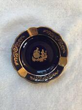 Vintage Ashtray Limoges Made In France Violet/Gold Veritable Porcelaine D'Art