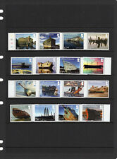 FALKLAND ISLANDS   2017-20, WRECKS, Pts. 1-4, FOUR COMPLETE SETS, MNH