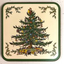 12 Spode Christmas Tree Pimpernel Drink Coasters w/ Cork Backing