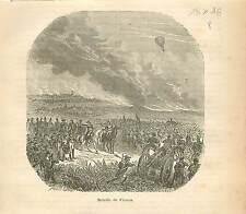 Bataille de Fleurus (1794)  FRANCE GRAVURE ANTIQUE OLD PRINT 1873