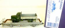 SBB Wagon plat Kms w Acide Militaire CAMION ep iv Liliput L235047 H0 1:87 HF6