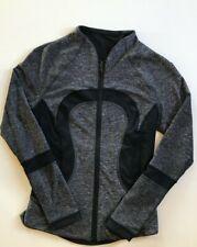 LULULEMON Find Your Bliss Jacket size 4 Black / Heathered Black EUC