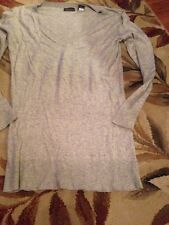 VICTORIA'S SECRET MODA INT gray v neck Cashmere Silk Sweater sz small super soft
