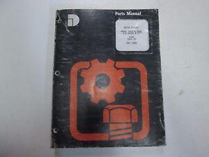 Komatsu Dresser Model A600 A606 Motor Grader Parts Manual FADED MINOR WEAR OEM