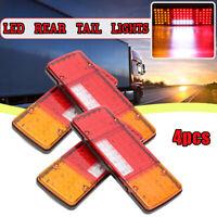 4x 92 LED Ute Rear Trailer Tail Lights For Caravan Truck Boat Car Indicator Lamp