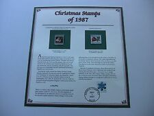 22 Cent A Gentleman in Adoration and Christmas Ornaments 1987 Christmas Stamps