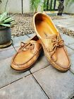 Mephisto Spinnaker Hurrikan Brown Leather Lace Up Boat Deck Shoes Men's  10.5