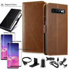 For Samsung Galaxy S10/S10 Plus/S10e Leather Wallet Case Card Pocket Cover Pouch