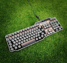 Steampunk Typewriter Keyboard (wood effect)