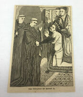 1870 magazine engraving ~ THE PENANCE OF HENRY II